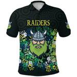 Canberra Polo Shirt Raiders Viking Simple Indigenous