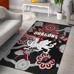 Dragons Area Rug St. George Indigenous Black K4