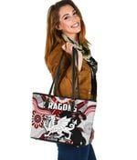 Dragons Small Leather Tote St. George Indigenous White K4