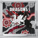 Dragons Shower Curtain St. George Indigenous Black K4