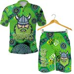 Combo Polo Shirt and Men Short Canberra Raiders Viking Indigenous