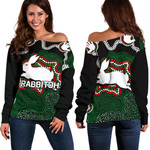 Rabbitohs Women's Off Shoulder Sweater Aboriginal 2