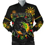Penrith Men Bomber Jacket Indigenous Panthers - Black K8