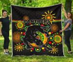 Penrith Premium Quilt Indigenous Panthers - Black K8
