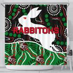 Rabbitohs Shower Curtain Aboriginal TH4