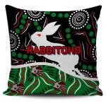 Rabbitohs Pillow Cover Aboriginal TH4