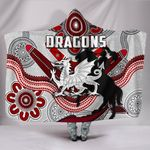 Dragons Hooded Blanket St. George Indigenous White K4