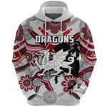 Dragons Hoodie St. George Indigenous White K4