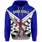 Bulldogs All Over Hoodie Warrior Man