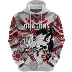 Dragons Zip Hoodie St. George Indigenous White K4
