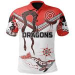 Dragons Polo Shirt St. George Aboriginal White TH5