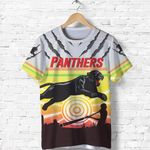 Panthers T Shirt Indigenous Setting Sun | Rugbylife.co