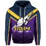 Melbourne All Over Zip-Hoodie Thunder