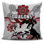 Dragons Pillow Cover St. George Indigenous White K4