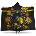 Penrith Hooded Blanket Indigenous Panthers - Black K8