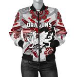 Dragons Women Bomber Jacket  St. George Indigenous White K4