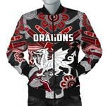 Dragons Men Bomber Jacket St. George Indigenous Black K4
