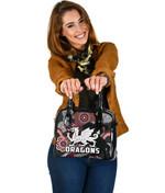 Dragons Shoulder Handbag St. George Indigenous Black K4