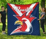 Australia Roosters Premium Quilt Rugby K4