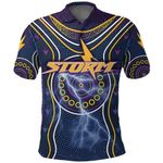 Melbourne Polo Shirt Lightning Storm Indigenous K4