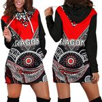 ST.George Women Hoodie Dress Aboriginal Th4