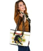 Penrith Small Leather Tote Indigenous Panthers - White K8