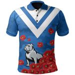 Bulldogs Polo Shirt Poppy Flowers