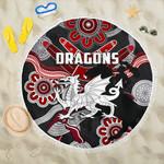 Dragons Beach Blanket St. George Indigenous Black K4
