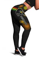 Penrith Women Leggings Indigenous Panthers - Black