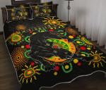 Penrith Quilt Bed Set Indigenous Panthers - Black K8