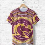 Brisbane All Over Print T- Shirt Broncos Indigenous TH5