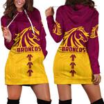 Broncos Hoodie Dress Brisbane Aboriginal | Rugbylife.co