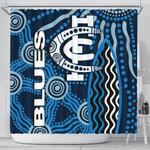 Carlton Blues Shower Curtain Aboriginal TH4