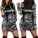 Magpies Hoodie Dress Aboriginal TH4
