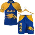 Combo Polo Shirt and Men Short Eagles West Coast - Royal Blue