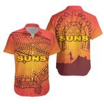 Gold Coast Hawaiian Shirt Suns Simple Indigenous