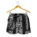 Magpies All Over Print Women's Shorts Aboriginal
