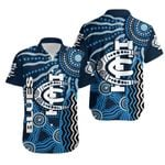 Carlton Blues Hawaiian Shirt Aboriginal TH4