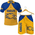 Combo Polo Shirt and Men Short Eagles West Coast - Gold