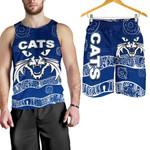 Combo Men Tank Top and Men Short Cats Aboriginal