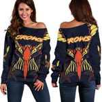 Adelaide Women Off Shoulder Sweater Simple Indigenous Crows