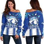 Melbourne Women Off Shoulder Sweater Indigenous North Kangaroos