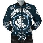 Carlton Men's Bomber Jacket The Blue Baggers Indigenous