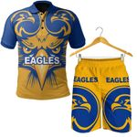 Combo Polo Shirt and Men Short West Coast Eagles Special Style