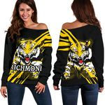 Richmond Tigers Women's Off Shoulder Sweater