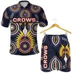 Combo Polo Shirt and Men Short Adelaide Original Indigenous Crows