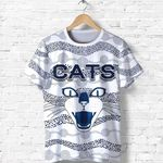 Geelong T Shirt Cats Indigenous - White