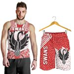Combo Men Tank Top and Men Short Sydney Indigenous Swans