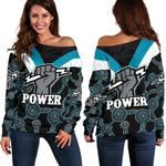Port Adelaide Off Shoulder Sweater Power K4