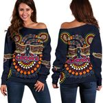 Adelaide Women Off Shoulder Sweater Indigenous Crows